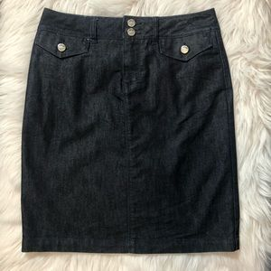 WHBM Dark Denim Skirt